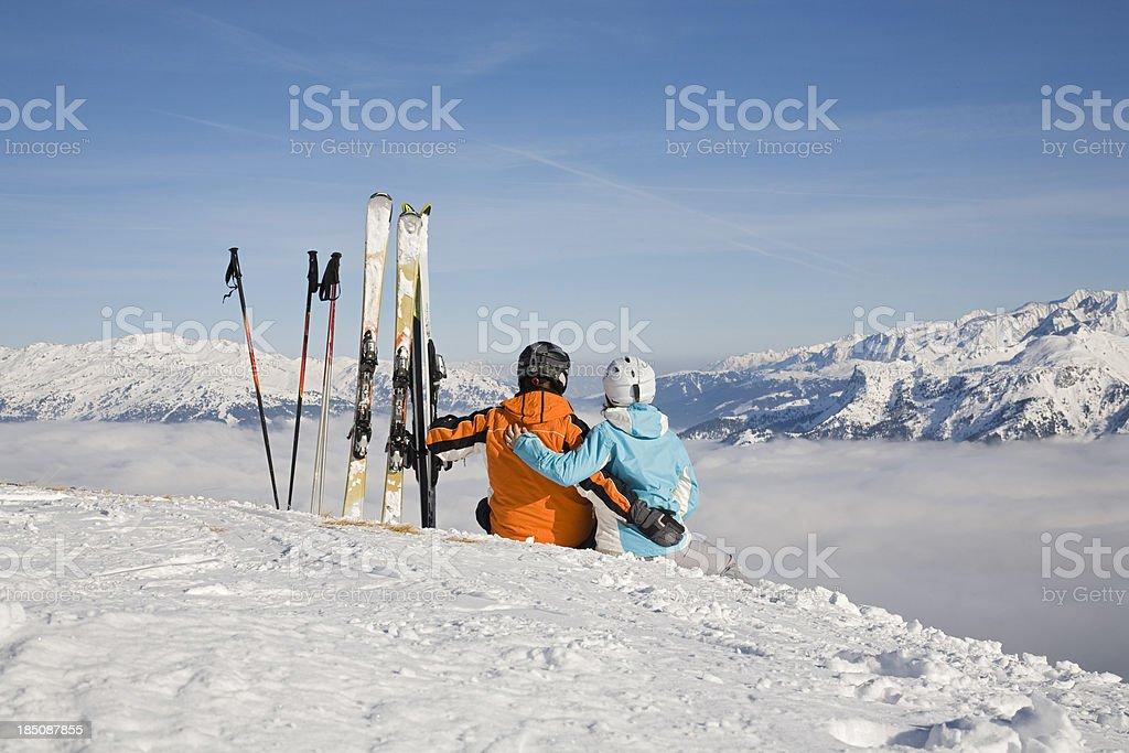 winter vacation stock photo