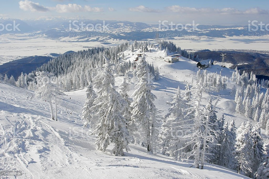 Winter vacation place royalty-free stock photo