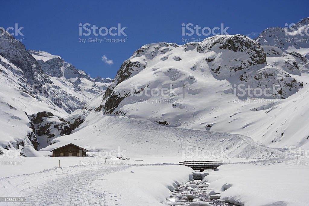 Winter Valley stock photo
