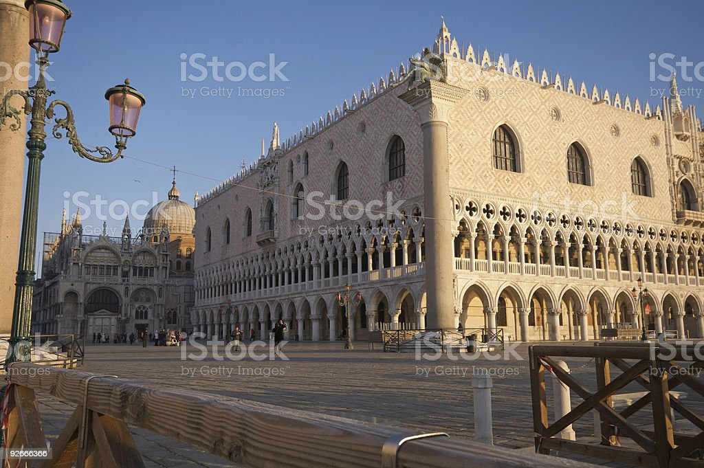 Winter view of Ducal Palace in Venice royalty-free stock photo