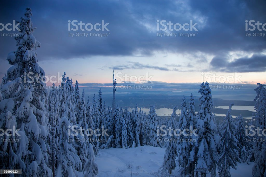 Winter view stock photo