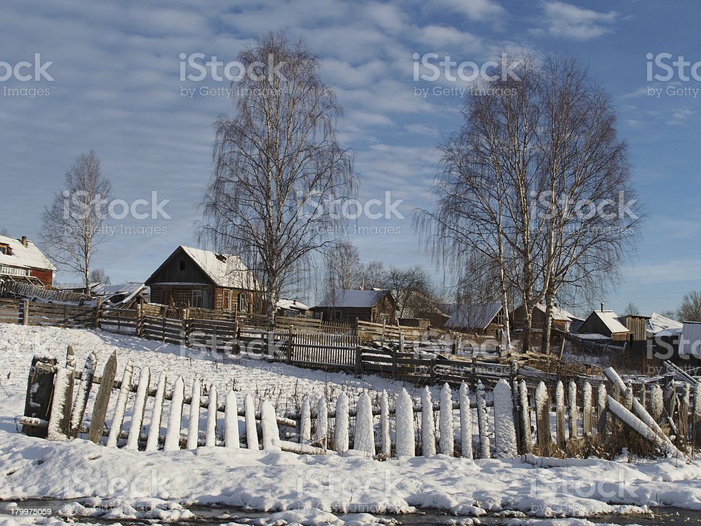 winter village royalty-free stock photo