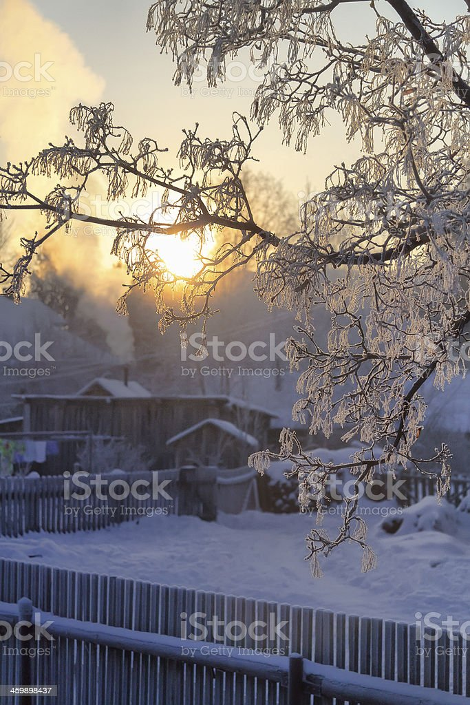 Winter village,christmas royalty-free stock photo