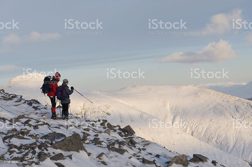 Winter walking stock photo