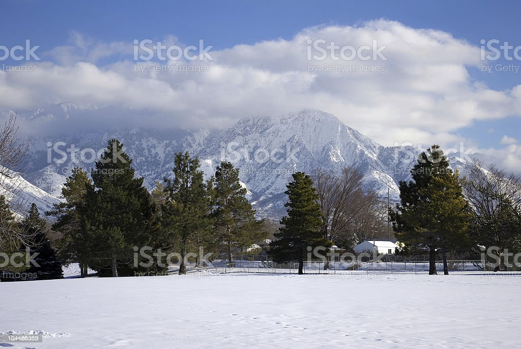 Winter Wasatch Mountains royalty-free stock photo