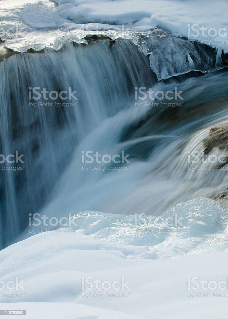 Winter Waterfall stock photo