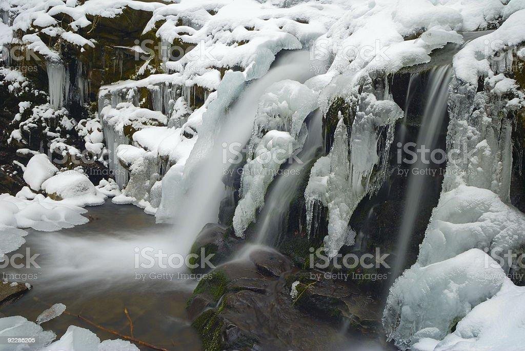 Winter waterfall royalty-free stock photo