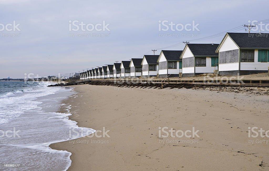 Winter Waves on Truro Beach stock photo