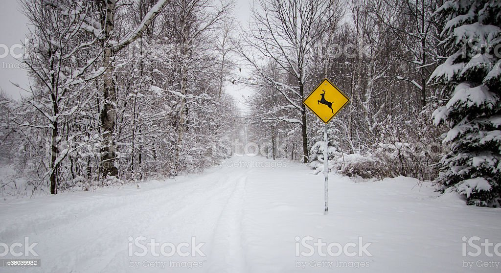Winter Weather Driving stock photo