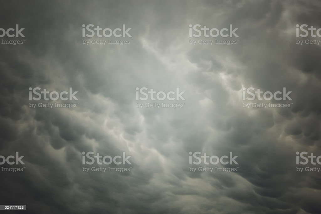 Winter Weather - Heavenly sky - Storm Sky Cloudscape stock photo