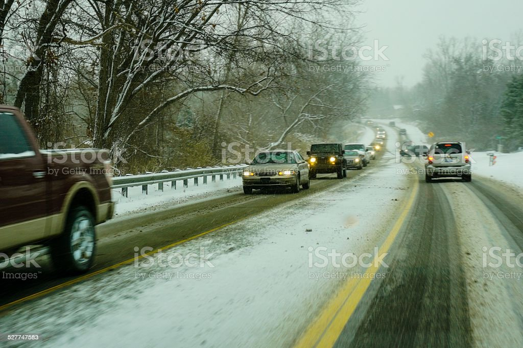 Winter Weather in Michigan stock photo