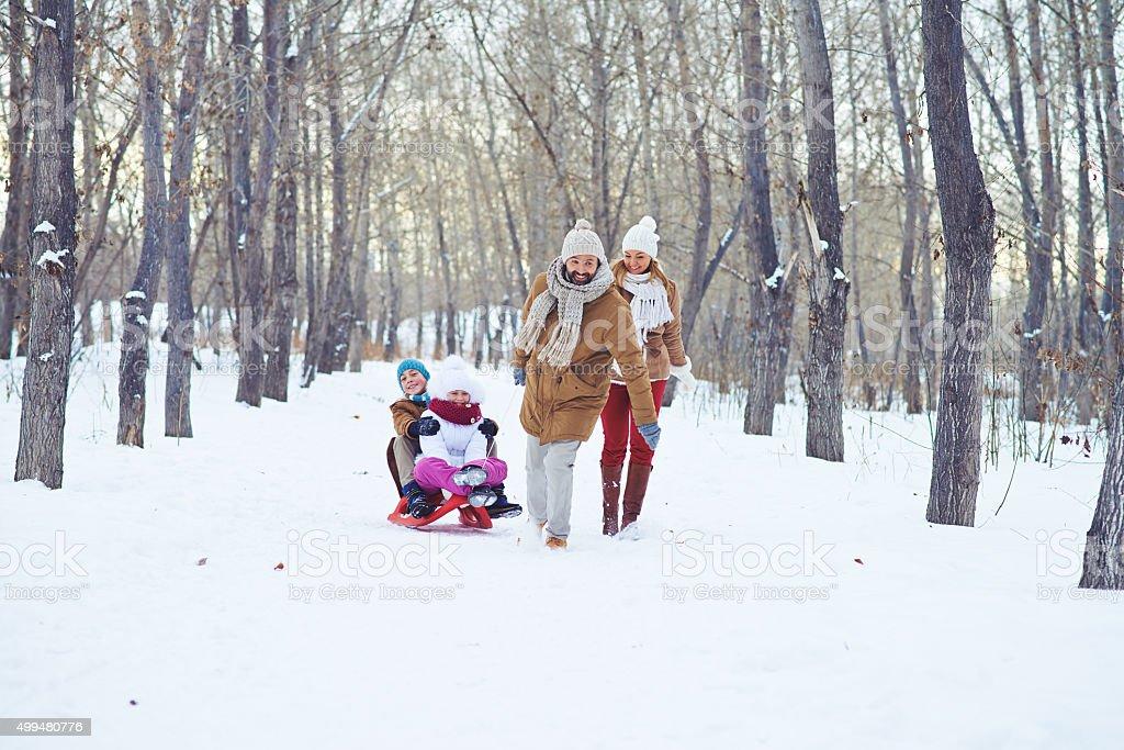 Winter weekend stock photo