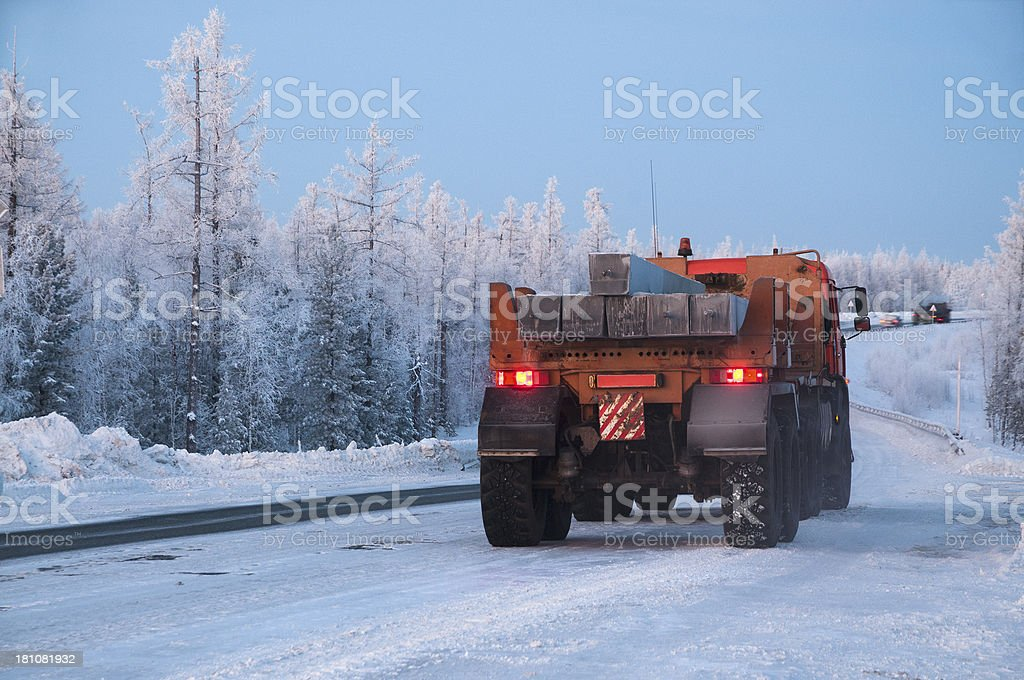 Winter. Western Siberia. royalty-free stock photo