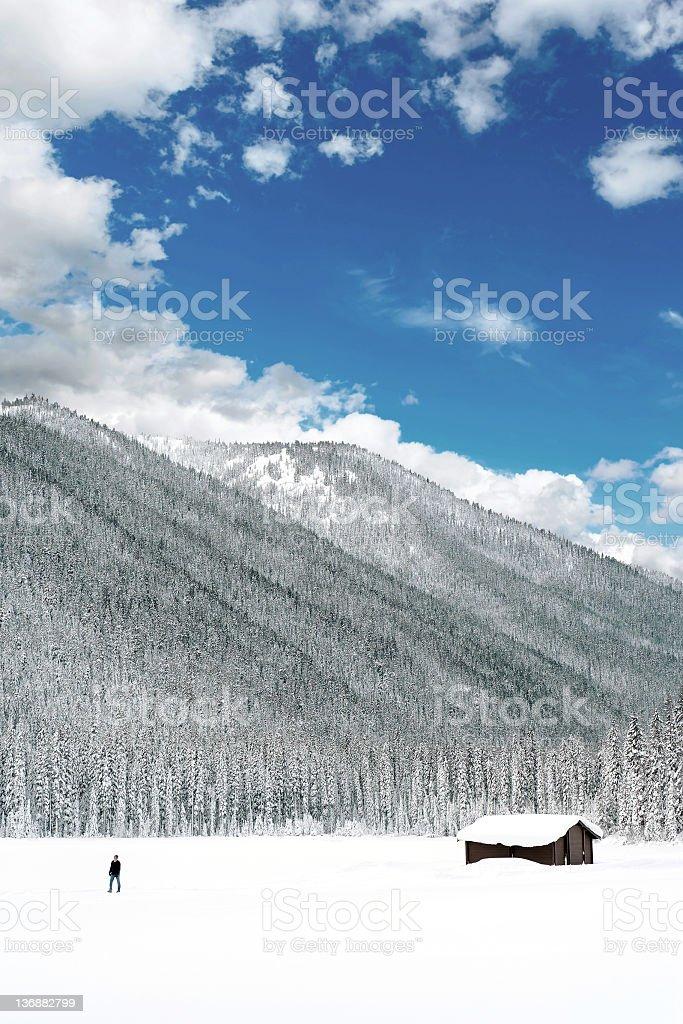 winter wilderness cabin royalty-free stock photo