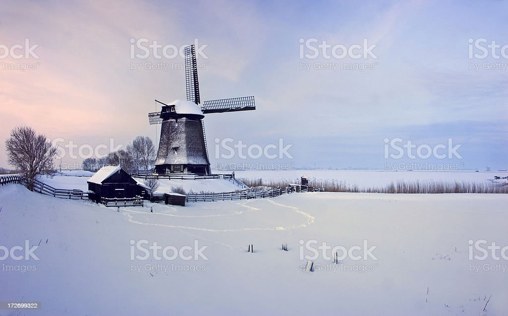 Winter Windmill royalty-free stock photo