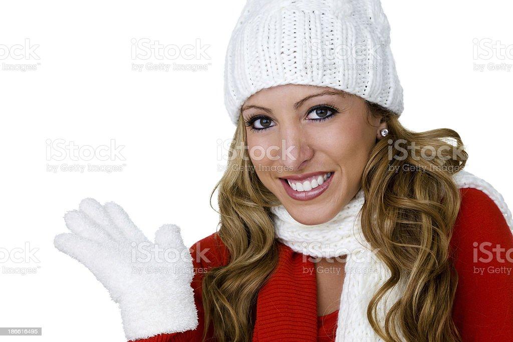 Winter woman royalty-free stock photo
