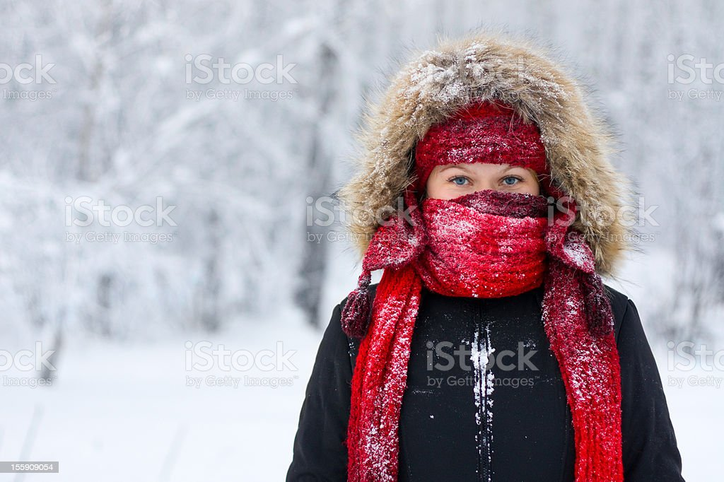 Winter woman portrait royalty-free stock photo