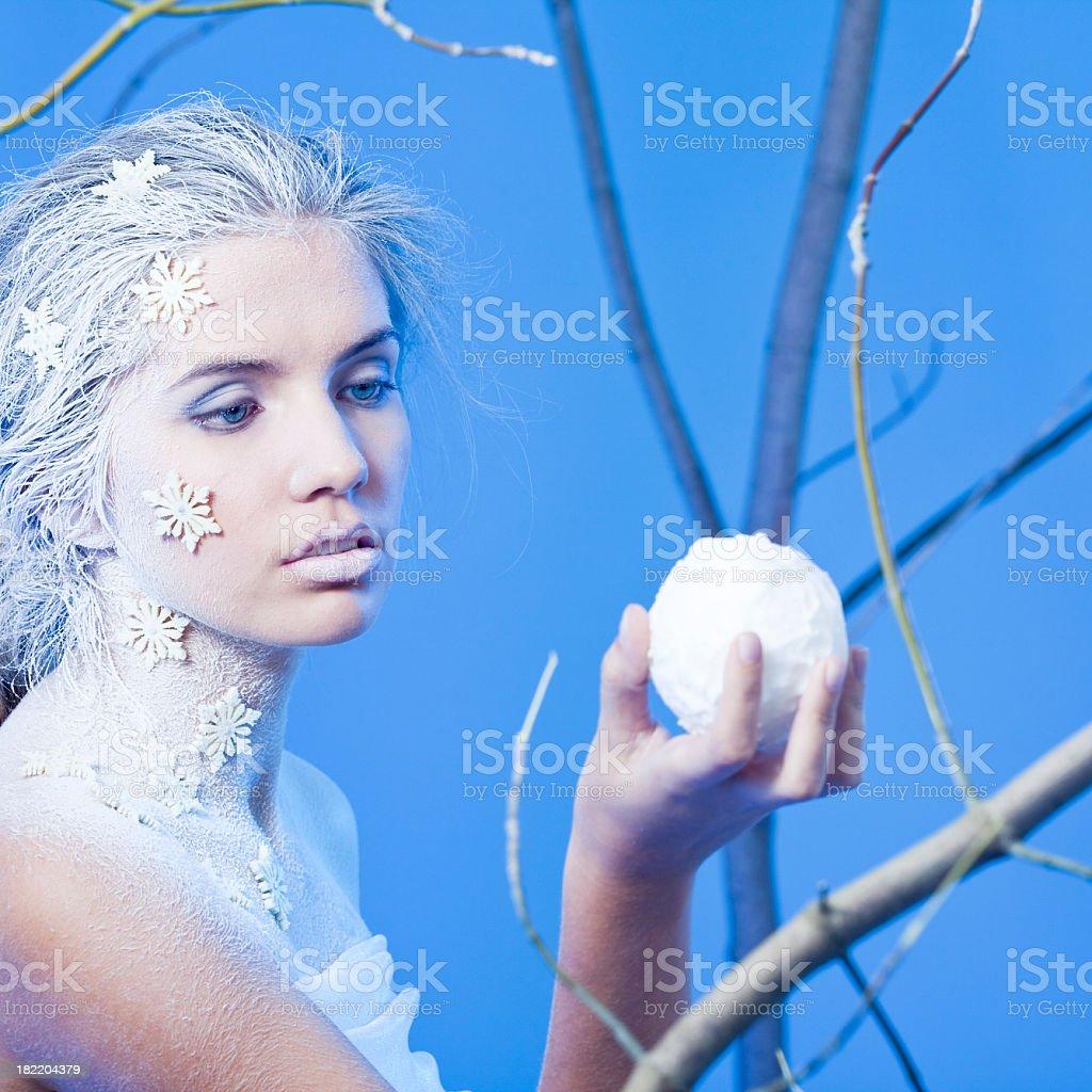 Winter women portrait royalty-free stock photo
