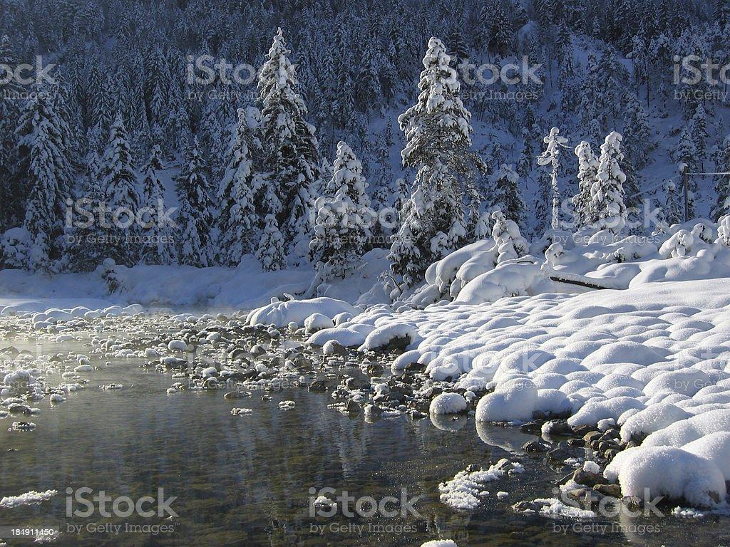 winter wonder land in tirol austria royalty-free stock photo