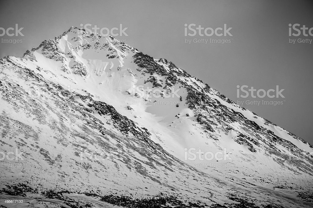 Winter Wonderland Alaska Steep Slope Ice Rock Nar stock photo