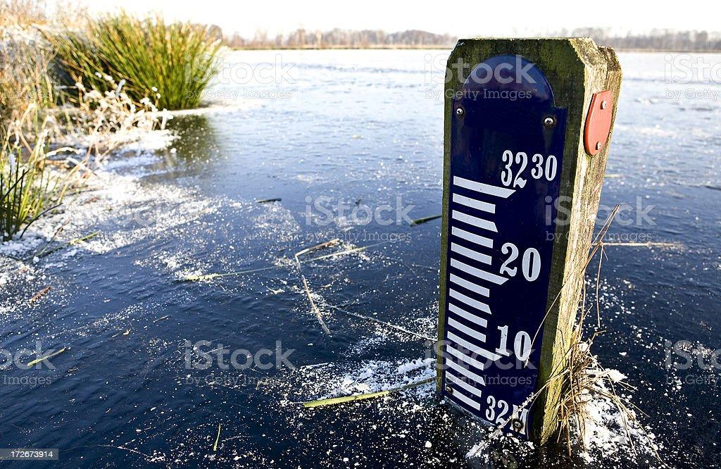 Winter wonderland and measure (sea level) stock photo