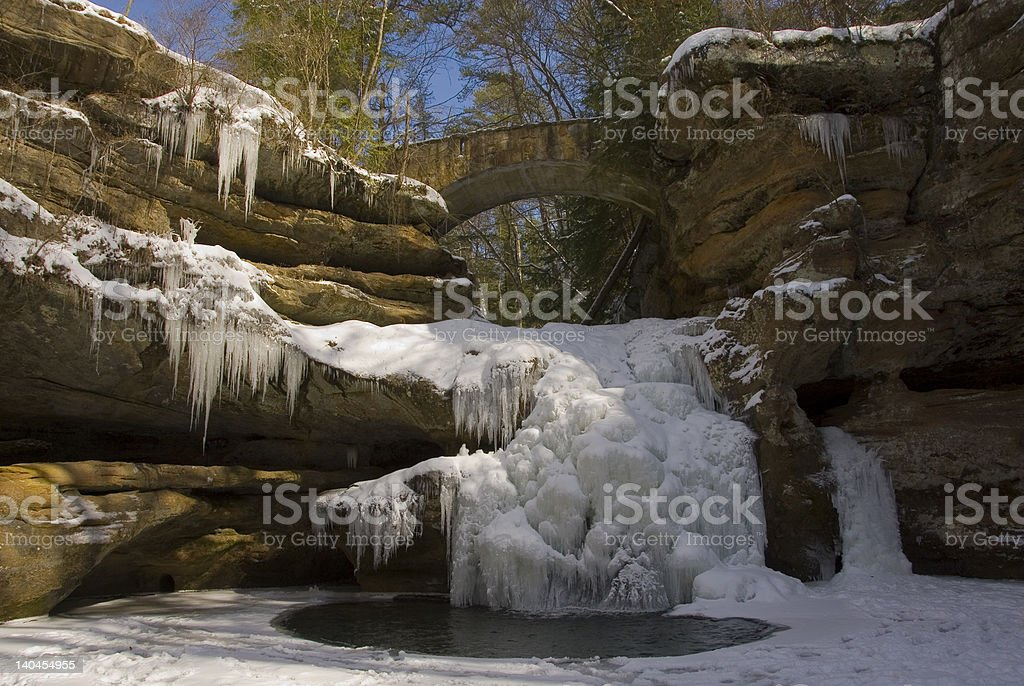 Winter Wonderland Hocking Hills royalty-free stock photo