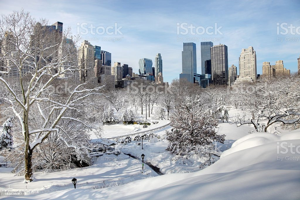 Winter Wonderland in Central Park royalty-free stock photo