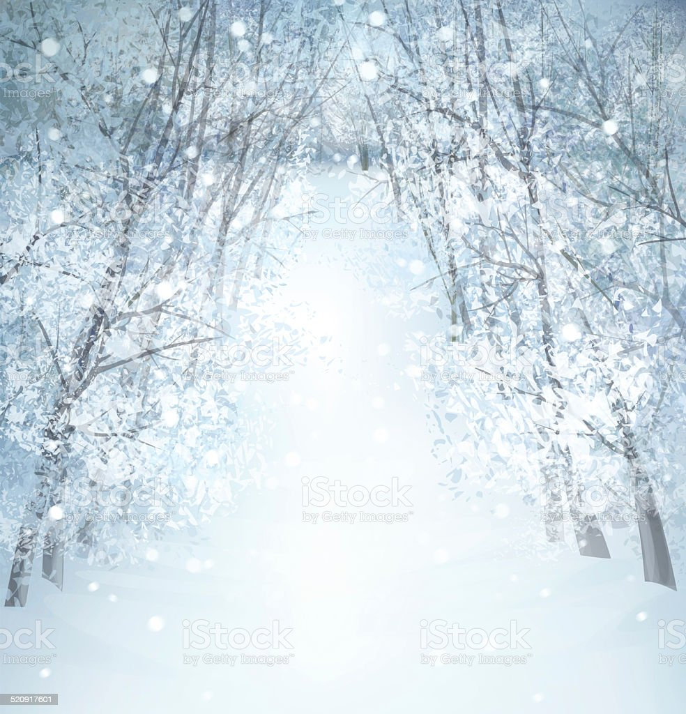 Winter wonderland landscape. stock photo
