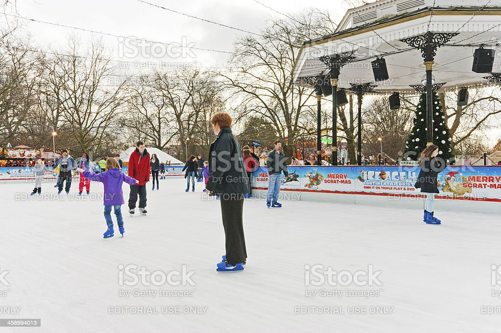 Winter Wonderland Open Air ice rink royalty-free stock photo