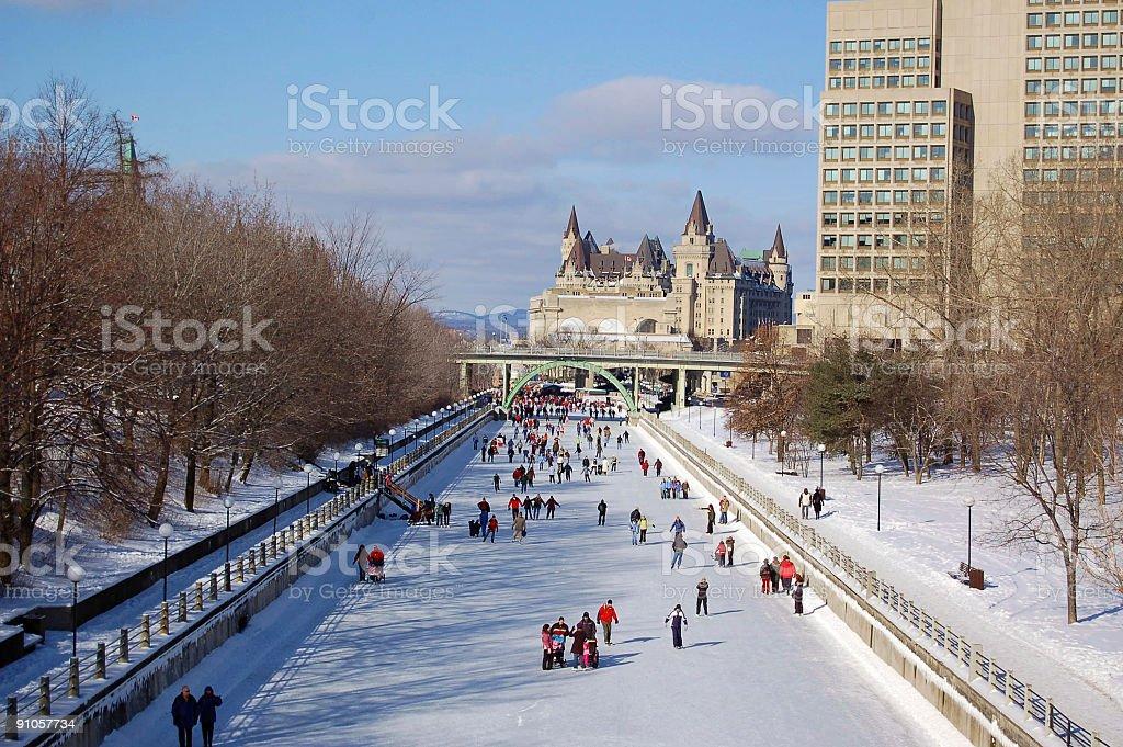 Winter Wonderland Rideau Canal (UNESCO) stock photo