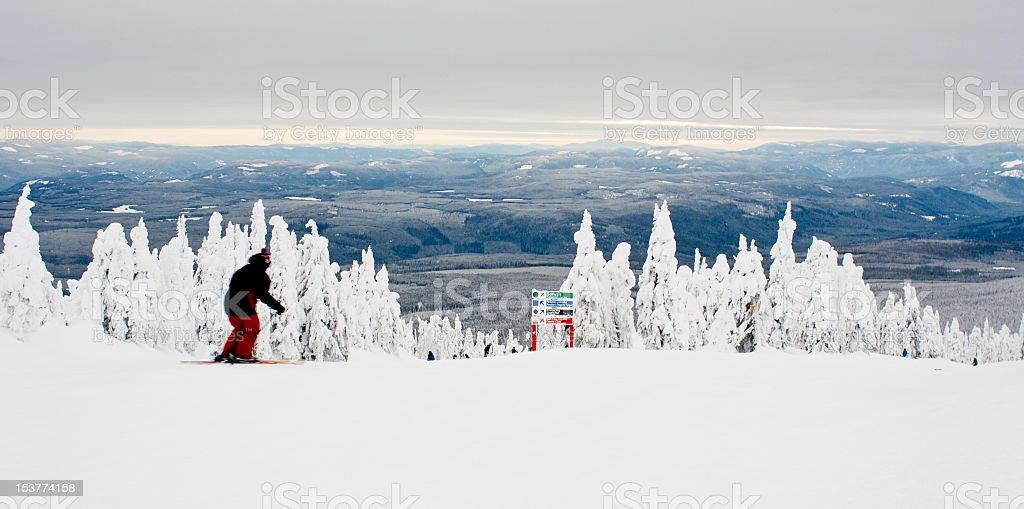 Winter wonderland ski resort and spa stock photo