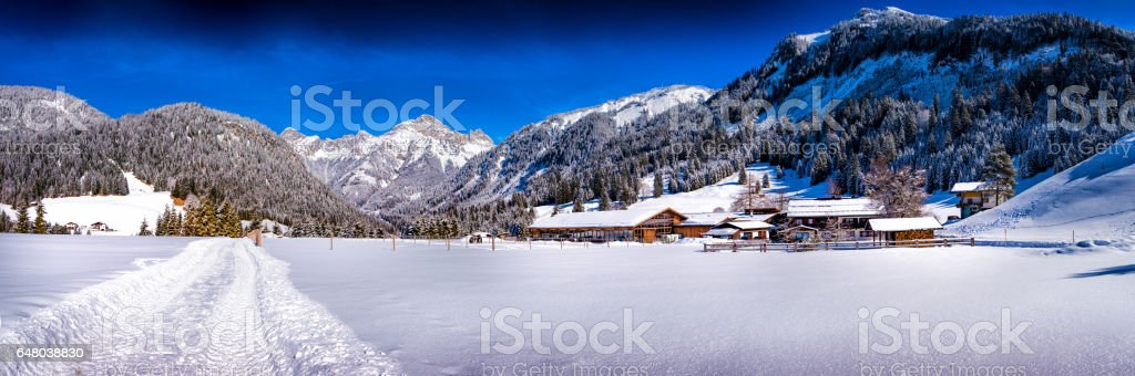 Winter wonderland XXL Panorama stock photo