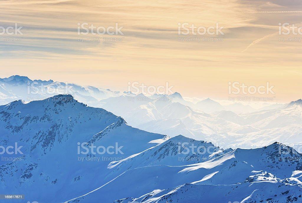 WinterAlpine Panorama stock photo