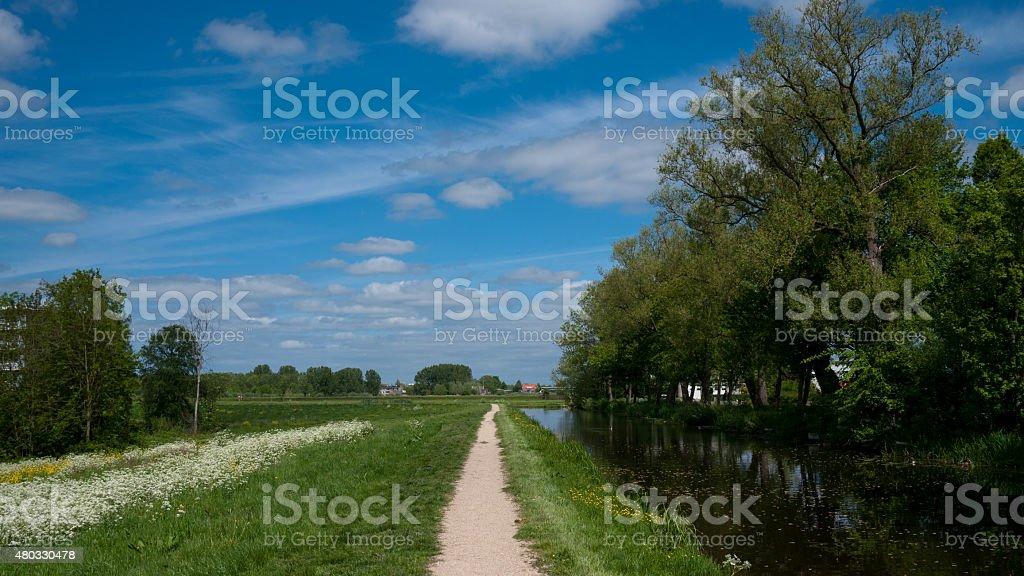 Winterdijk waddinxveen stock photo