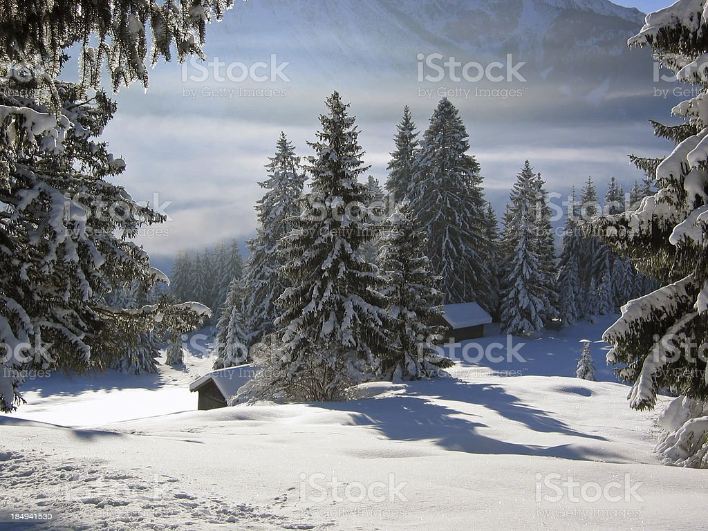 winterlandscape in tirol, austria royalty-free stock photo