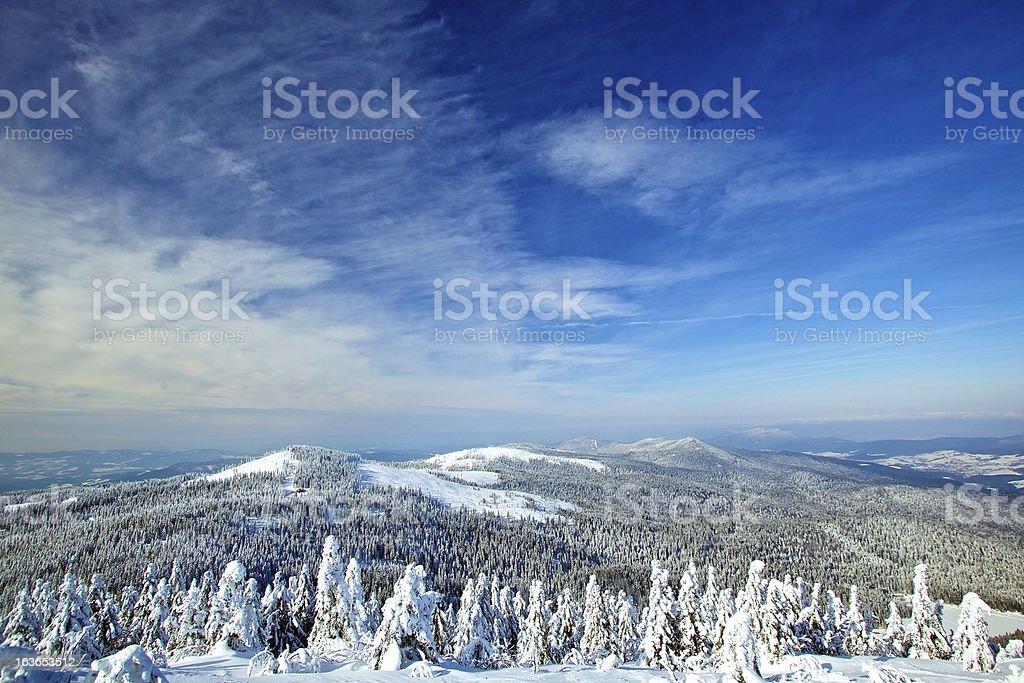 Winterlandschaft des Bayerischen Wald stock photo