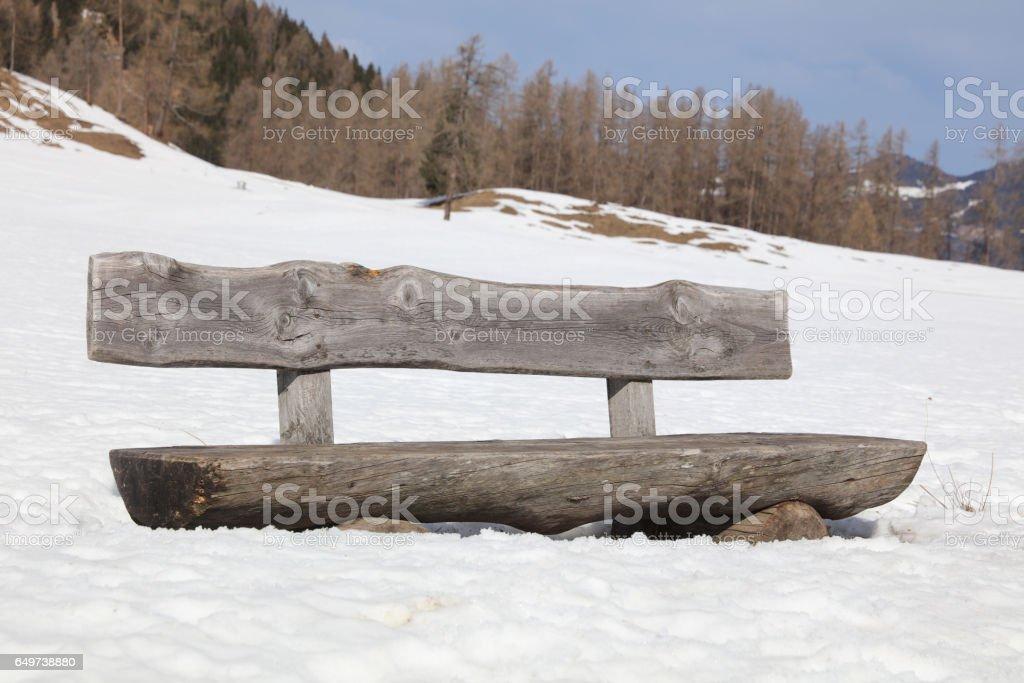 Winterlandschaft in Vorarlberg. Österreich stock photo