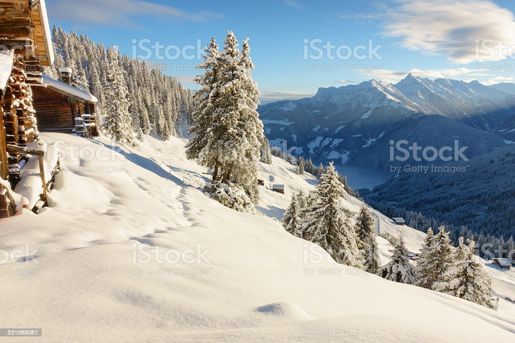 Winterlanschaft stock photo