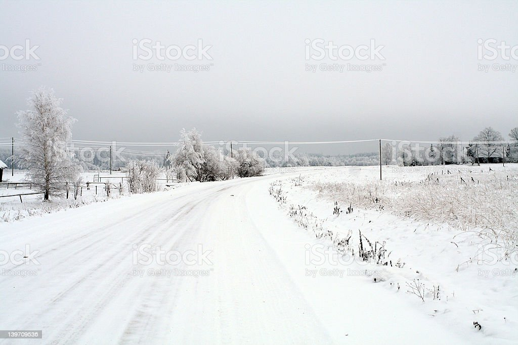 Winterroad royalty-free stock photo