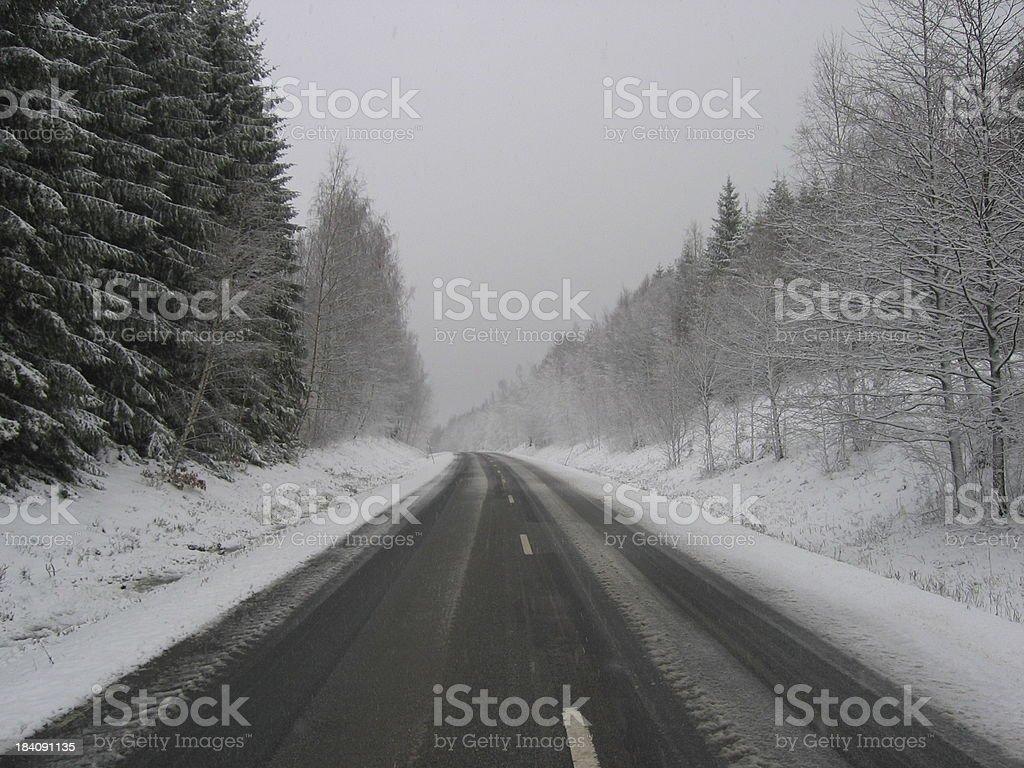 Winterroad stock photo