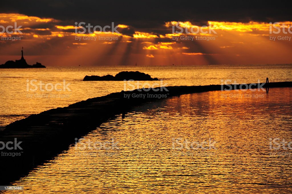 Winter's evening, Jersey. royalty-free stock photo