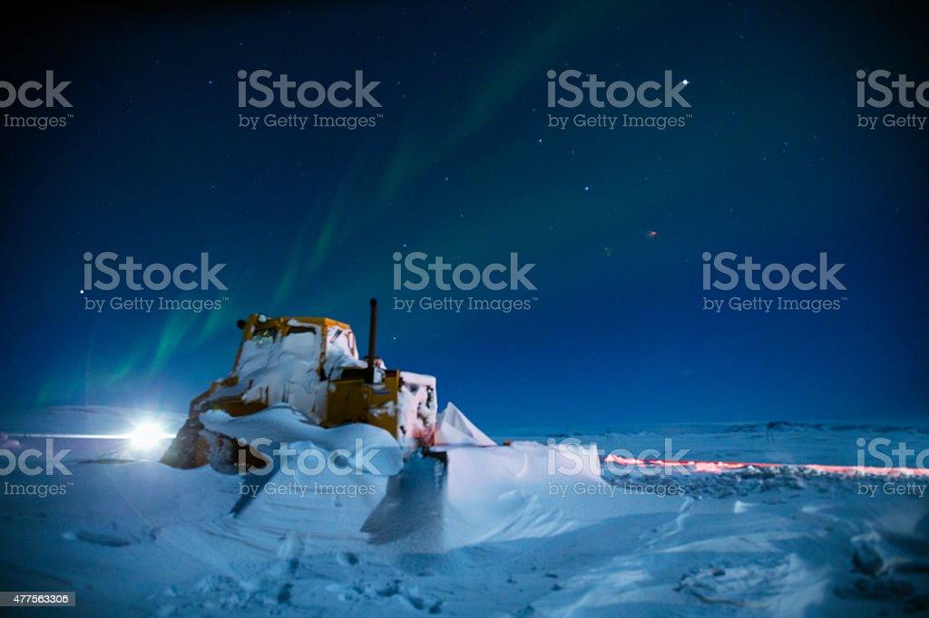 Winter's night in Iceland stock photo