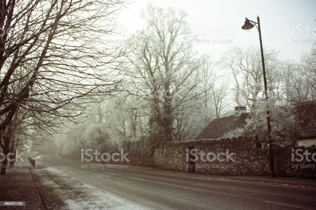 Winters Road stock photo