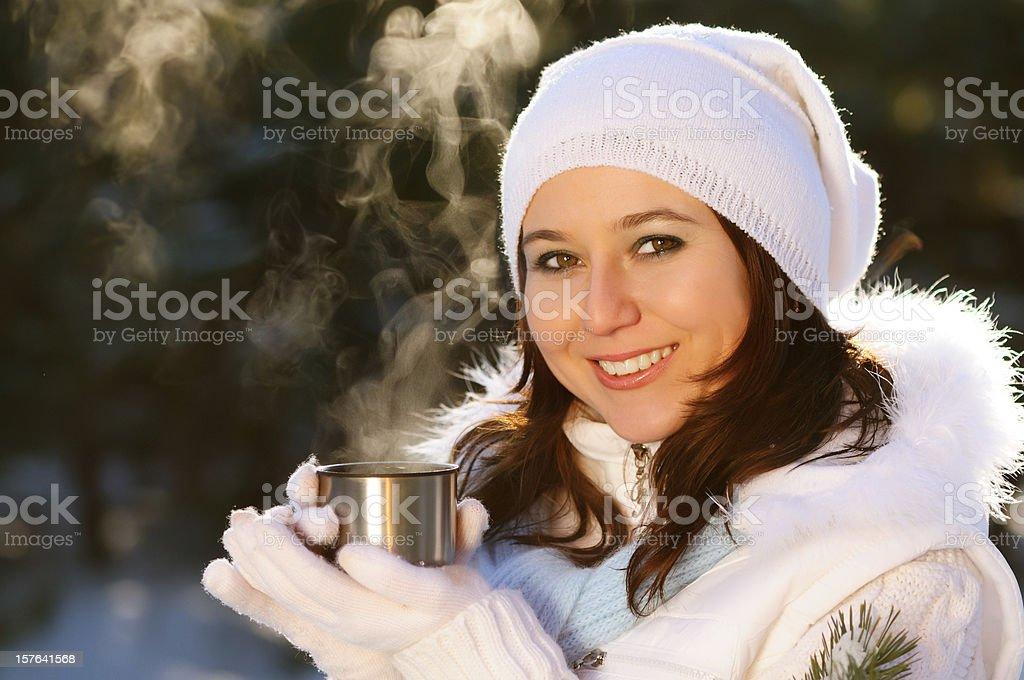 Winter's tea royalty-free stock photo