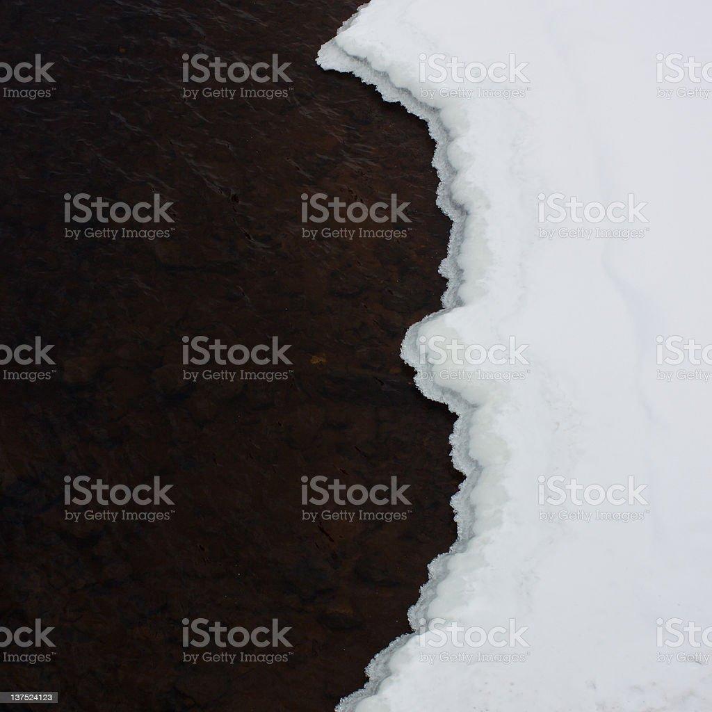 Winter's Yin and Yang stock photo