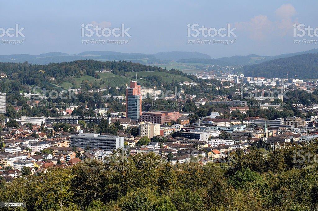 Winterthur Panoramic View stock photo