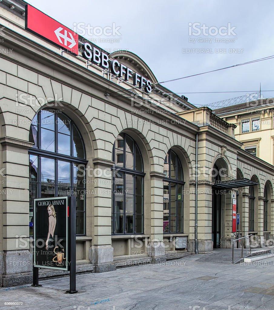 Winterthur railway station stock photo
