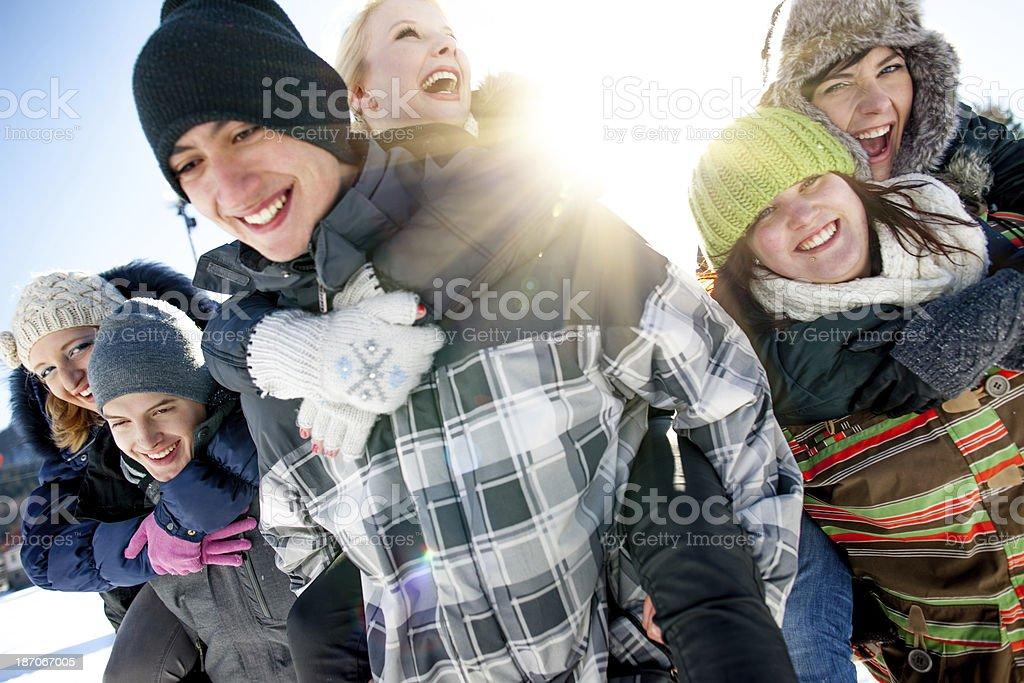Wintertime fun royalty-free stock photo