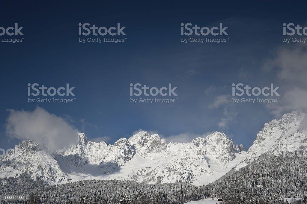 Wintertime Wilder Kaiser Tirol stock photo