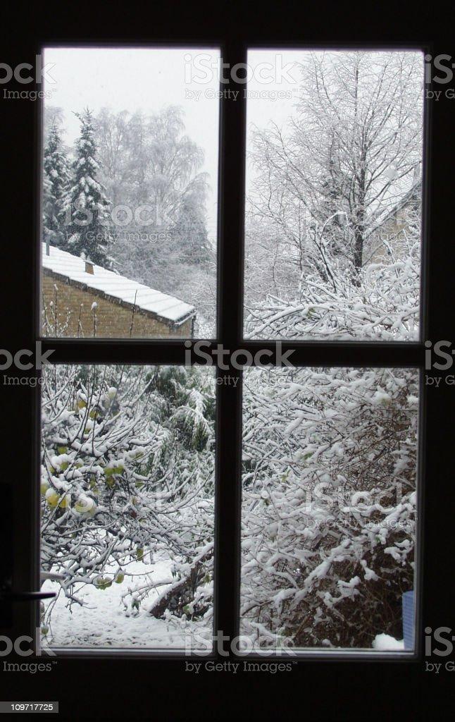 Winter-Window royalty-free stock photo